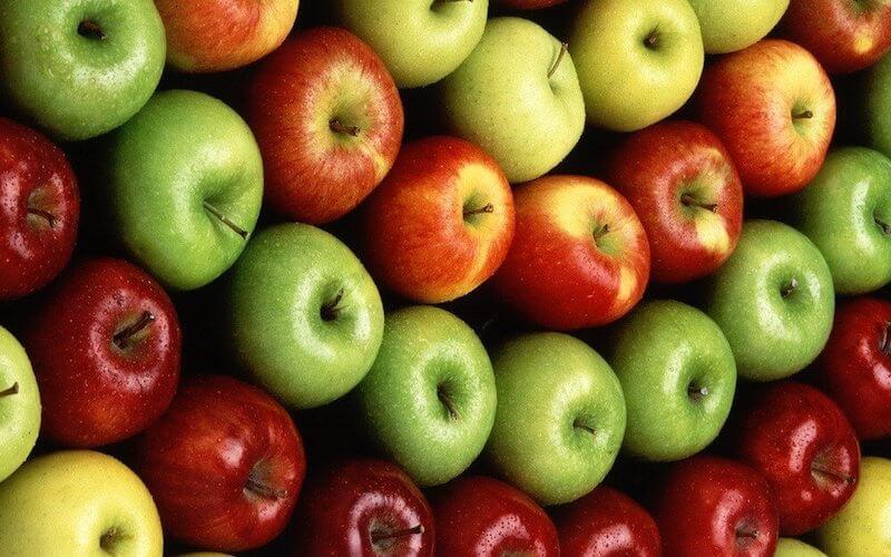 Le premier jour du régime à base de pommes