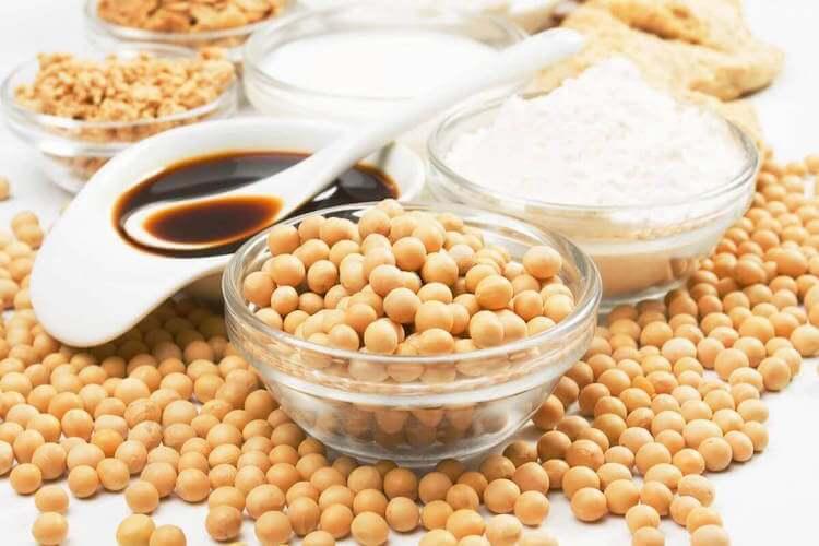 Le soja est riche en fer.