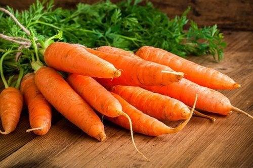 Une dizaine de carottes