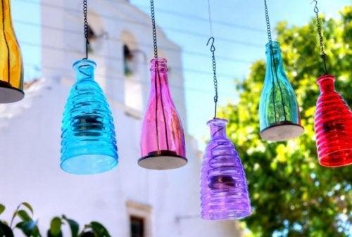 fabriquer une lampe avec une bouteille en verre