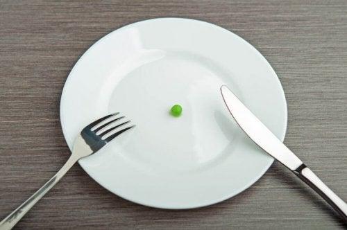Petit pois sur une assiette