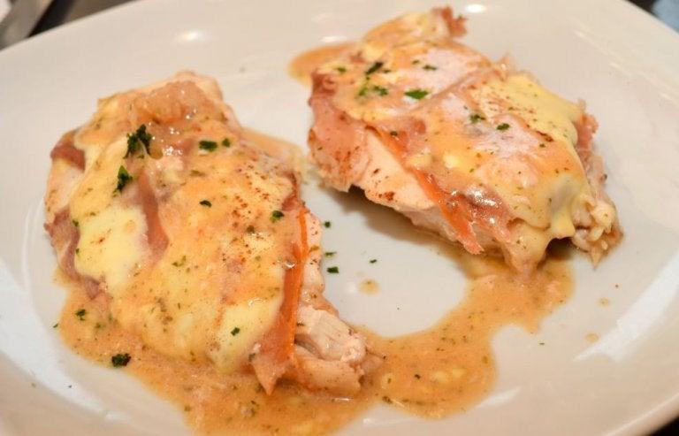 Recette de poitrine de poulet au roquefort