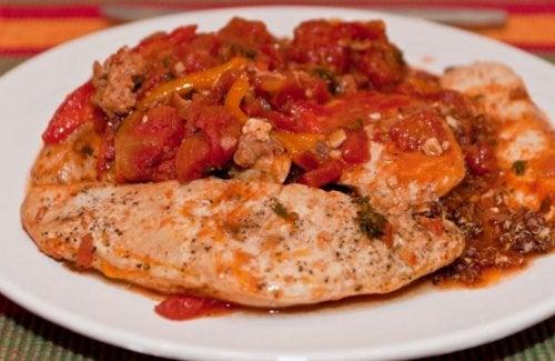 recette de poitrine de poulet à la tomate