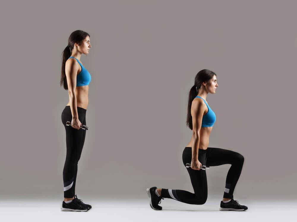 les estocades, exercice anti-cellulite