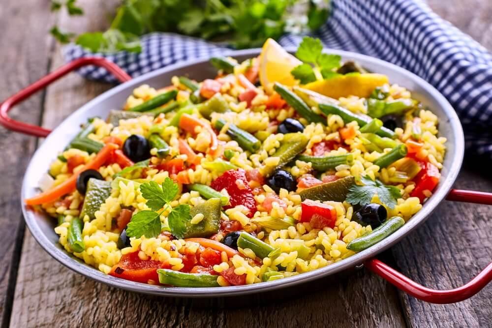 Comment préparer une paella végétarienne faible en calories ?