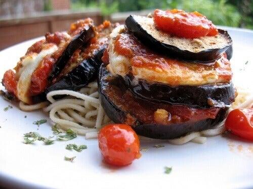 aubergines farcies sous forme de lasagnes