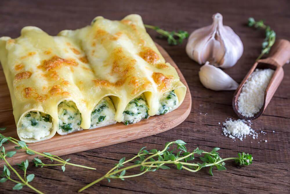 2 recettes de cannelloni aux légumes