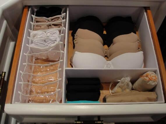 rangements des sous-vêtements