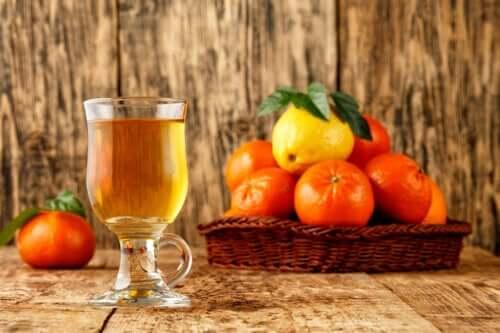 Thé au zeste de mandarine pour s'endormir plus vite