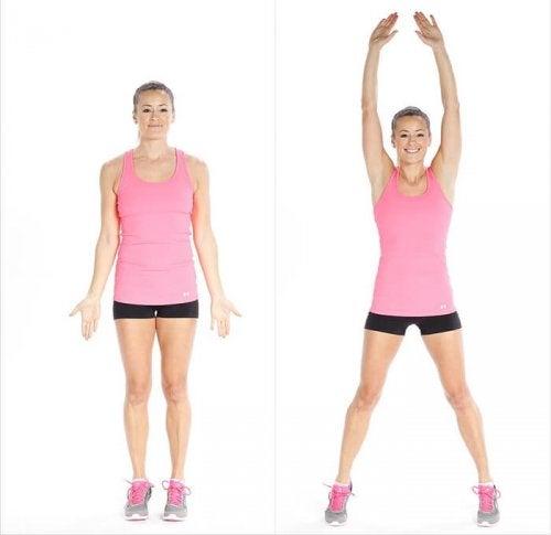 les sauts de ciseaux pour des jambes plus fortes