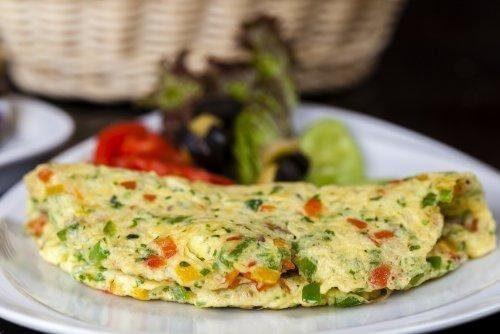 omelette farcie aux légumes