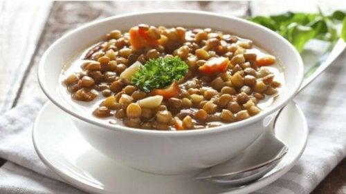 recette de lentilles aux légumes