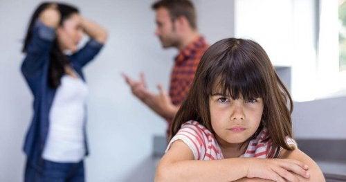 Répercussions des disputes des parents chez l'enfant