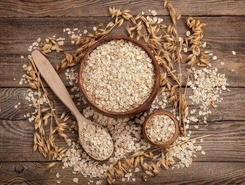 céréales complètes : flocons d'avoine