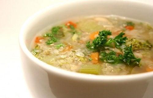 soupes et veloutés avec du quinoa