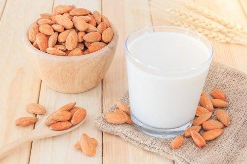 lait végétal à base d'amandes