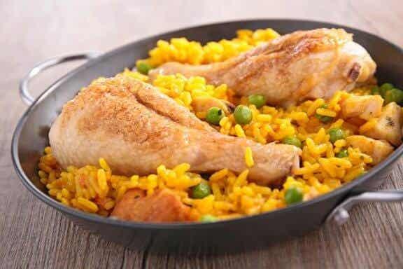 Recette de riz au poulet façon espagnole