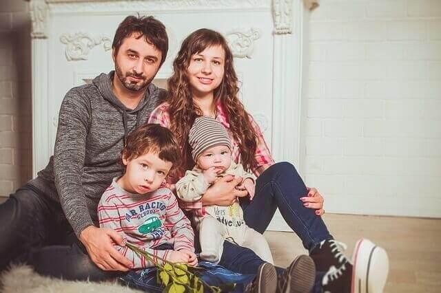 l'amour d'une famille heureuse