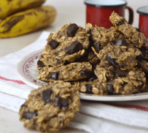 Un tas de biscuits sains à l'avoine