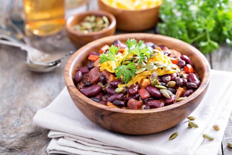 chili ovo-végétarien