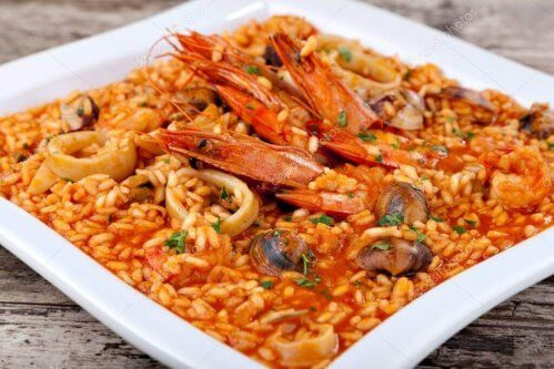 riz aux langoustines