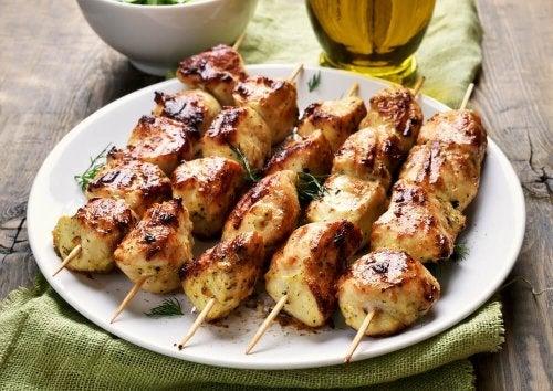 Brochettes de poulet faciles à préparer