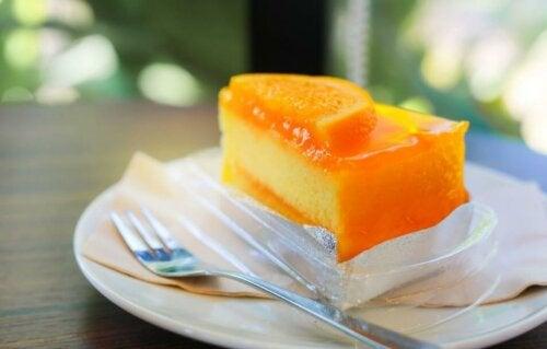 Cheesecake à l'orange.