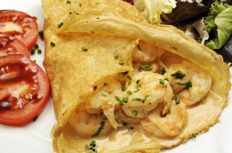 Préparez ces délicieuses crêpes aux crevettes