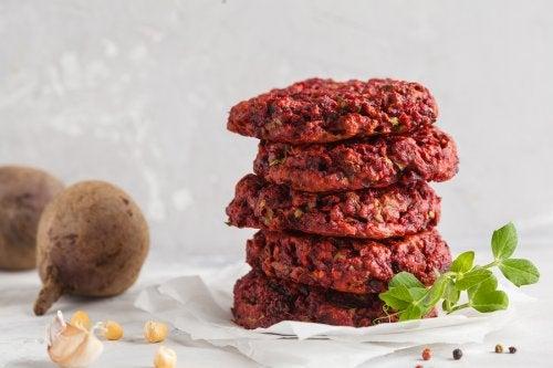 hamburger végétarien aux lentilles et aux champignons