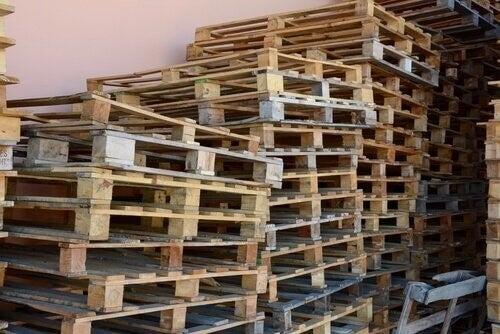 palettes recyclées en bois