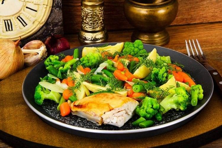 Recette de poulet aux légumes vapeur