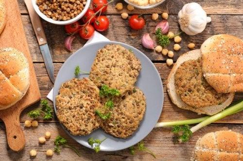 Super hamburger végétarien aux lentilles et champignons