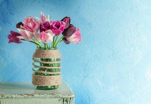 bocaux en verre pour faire des pots de fleurs