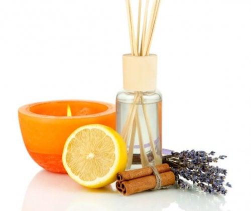 désodorisant d'air à base d'huile essentielle de citron