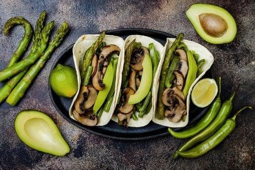 tacos vegans aux champignons