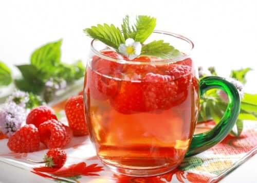 infusion de fruits : framboises