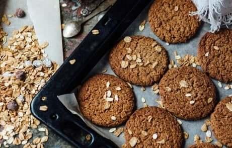 fournée de biscuits à l'avoine et au yaourt