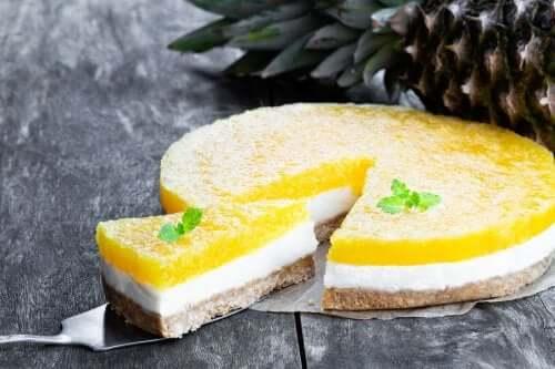 Cheesecake à l'ananas sans cuisson au four
