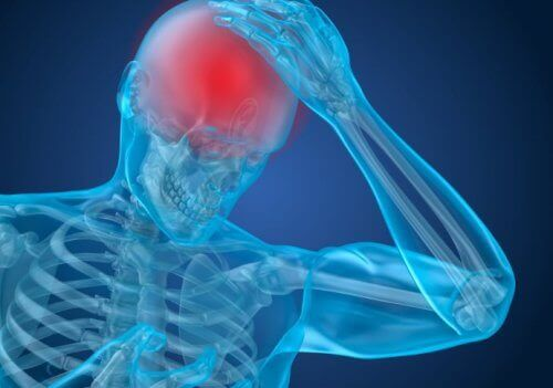Douleur suite à un traumatisme cranio-encéphalique.