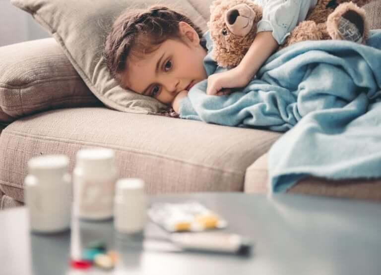 Une enfant souffrant du TDAH traitée au méthylphénidate