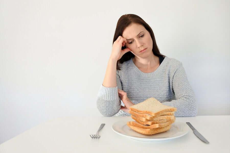 Une femme ayant la maladie cœliaque