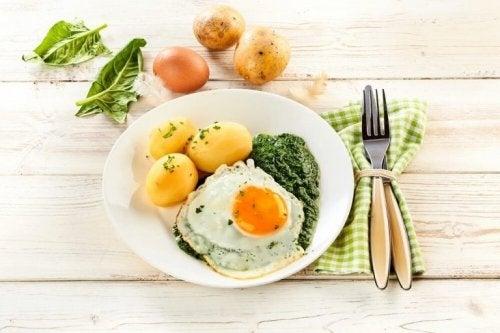 Une assiette répondant au régime végétarien