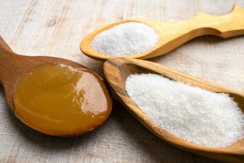 Le glucose dans le sucre et le miel