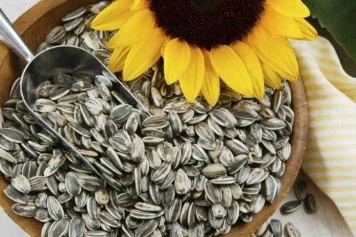 On peut avoir des cheveux sains grâce aux graines de tournesol