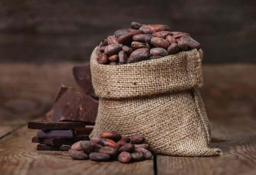 Des grains de cacao