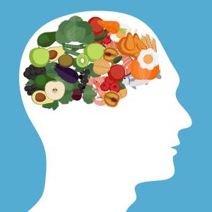 Un cerveau qui représente les régimes low carb
