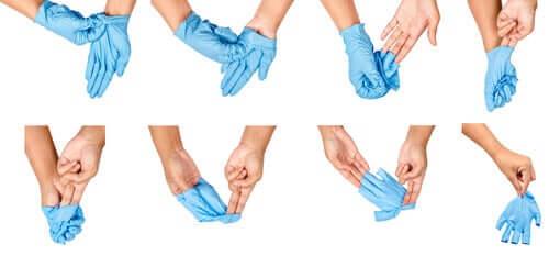 Comment enfiler des gants ?