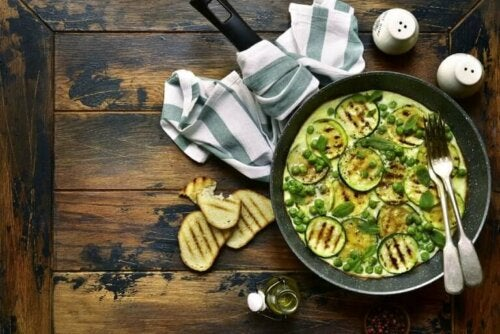 Tortilla végane aux courgettes