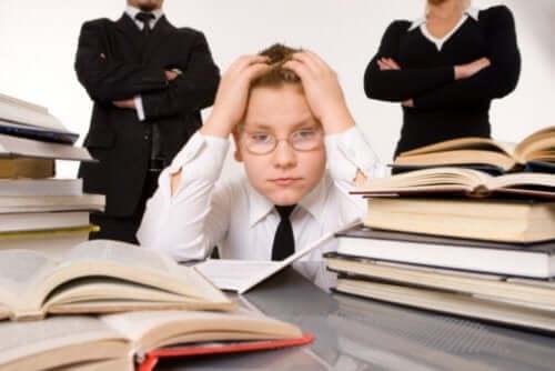 Ecole à la maison et travail scolaire