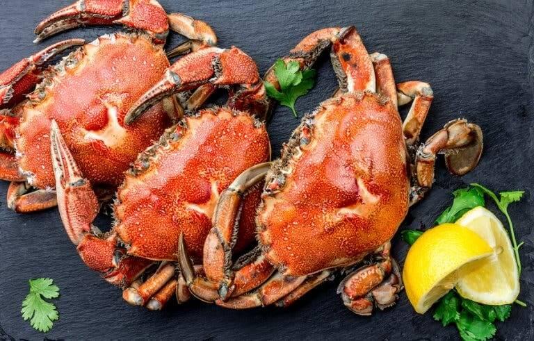 Des crabes frais pour faire un gâteau au crabe